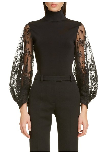 Givenchy lace sleeve bodysuit in black