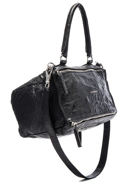 "Givenchy Medium Old Pepe Pandora in black - ""Wrinkled sheepskin leather with canvas lining and..."
