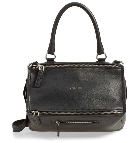 Givenchy medium pandora sugar leather satchel in black