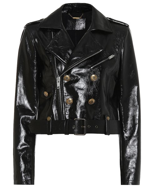 Givenchy patent leather jacket in black