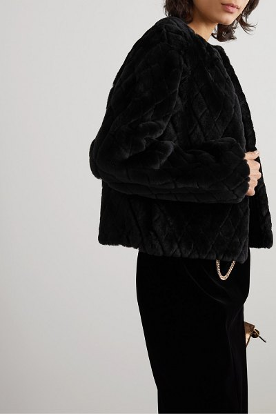 Givenchy quilted shearling jacket in black