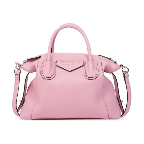 Givenchy small antigona soft leather satchel in baby pink,black
