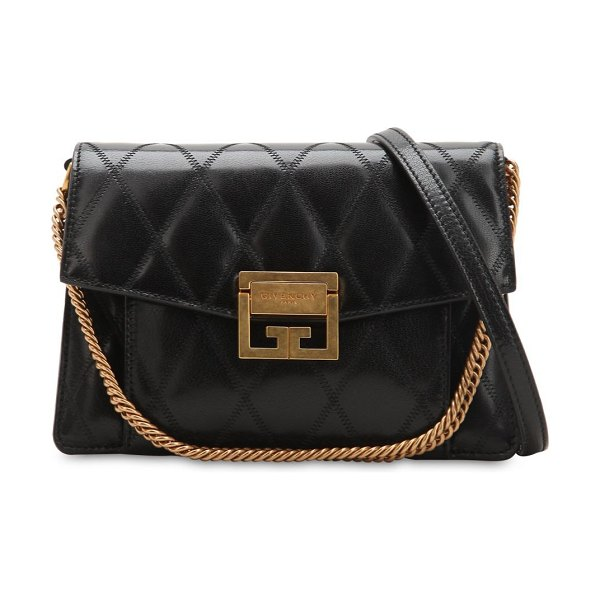 2ec4a0b617 Givenchy Small gv3 quilted shoulder bag in black - Height  14cm Width  21cm  Depth