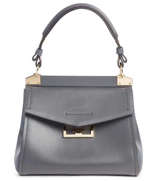 Givenchy small mystic leather satchel in storm grey