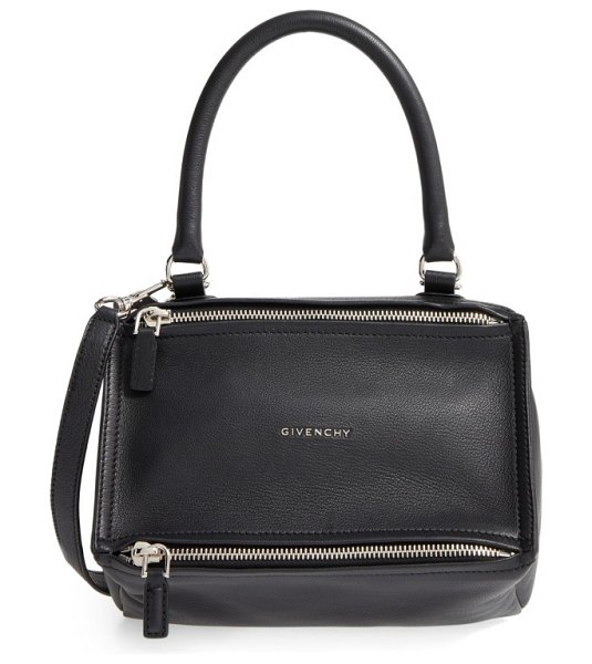 Givenchy small pandora leather satchel in black