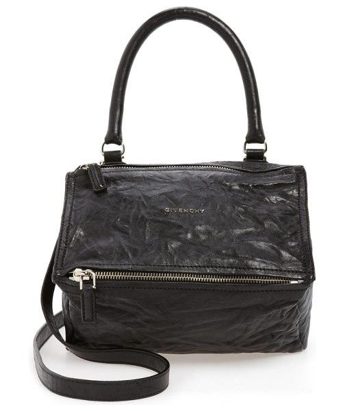 Givenchy small pepe pandora leather shoulder bag in black