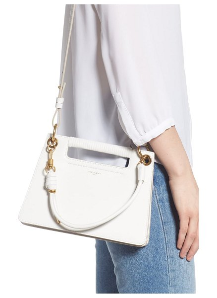 Givenchy small whip top handle bag in white -