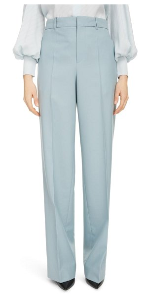 Givenchy straight leg wool pants in grey blue