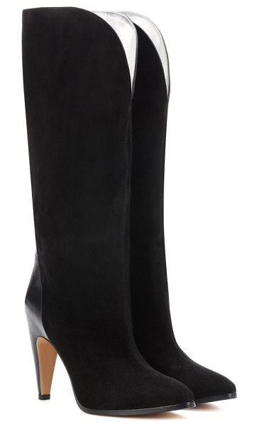 Givenchy suede knee-high boots in black