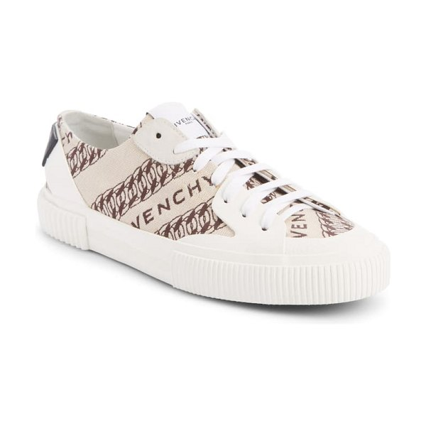 Givenchy tennis light sneaker in beige/ brown