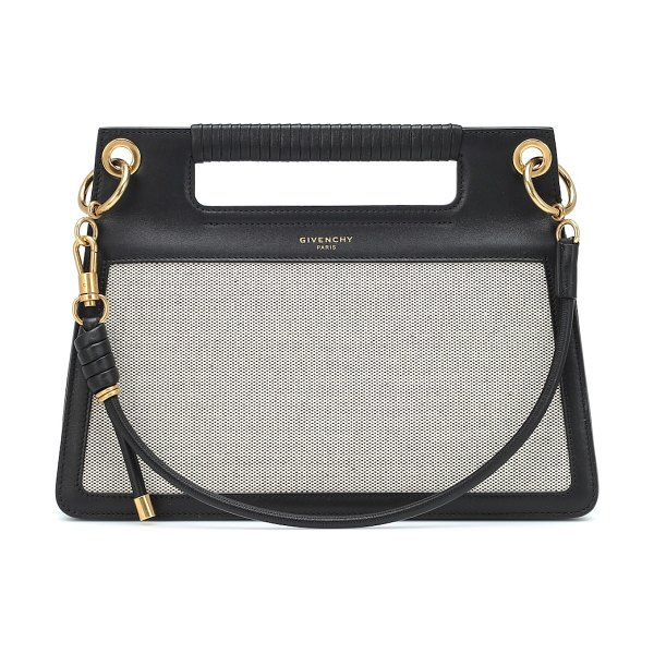 Givenchy Whip Medium canvas shoulder bag in black - Indulge in tough looks with a luxurious inflection by...