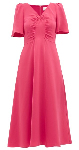 Goat rosemary gathered silk dress in pink