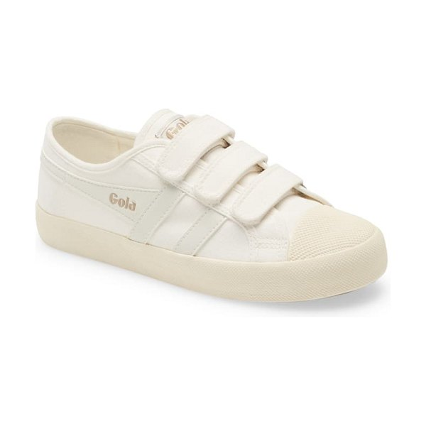 Gola coaster low top sneaker in offwhite/ offwhite