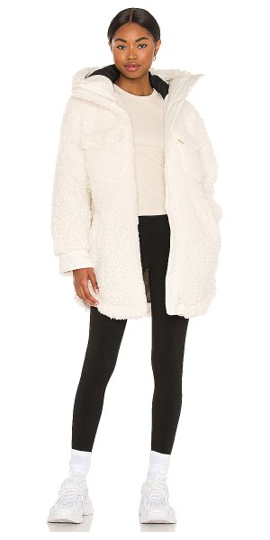 Goldbergh cocoon faux fur jacket in off white