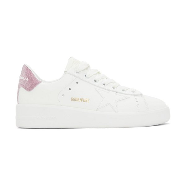 Golden Goose and pink purestar sneakers in white