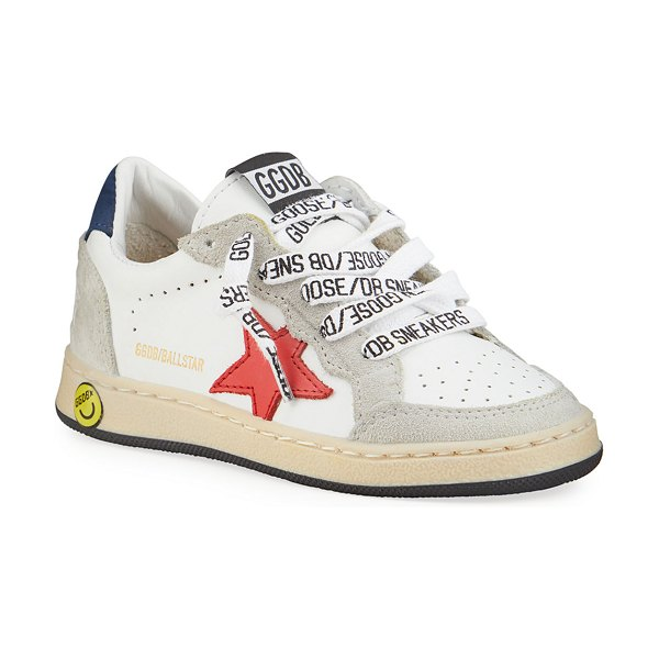 Golden Goose Ball Star Leather Low-Top Sneakers in white