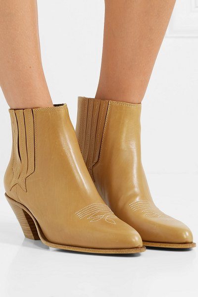 Golden Goose sunset leather ankle boots in light brown