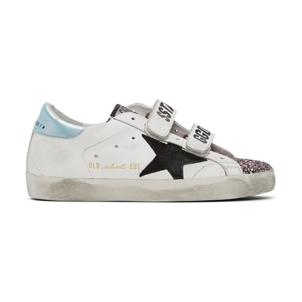Golden Goose glitter old school sneakers in white