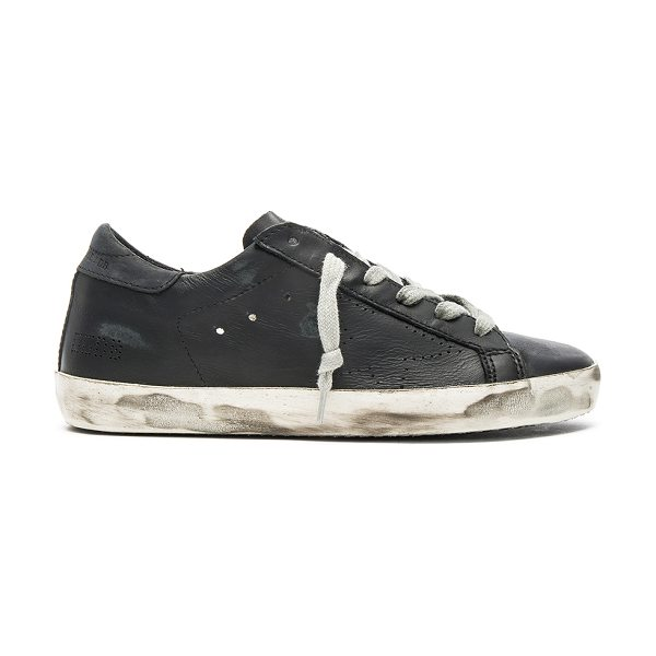 GOLDEN GOOSE Leather Superstar Low - Leather upper with rubber sole.  Made in Italy.  Terry...