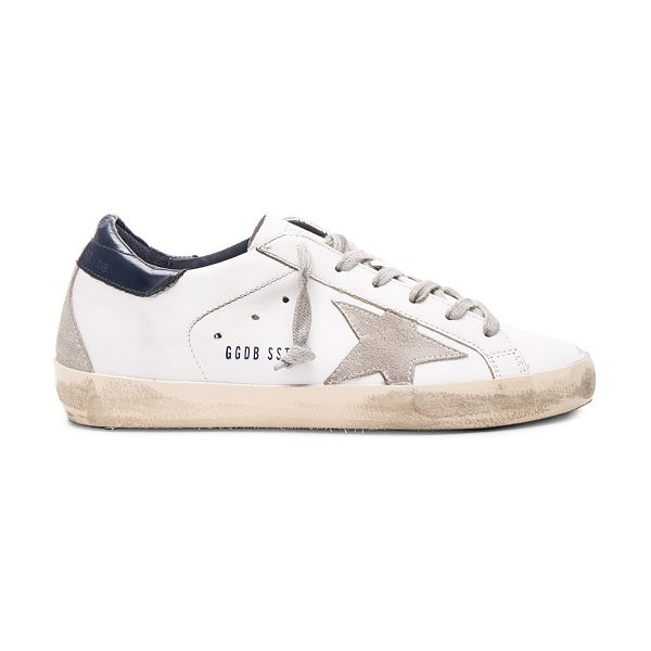 Golden Goose Leather Superstar Low Sneakers in white - Leather upper with rubber sole.  Made in Italy.  Terry...