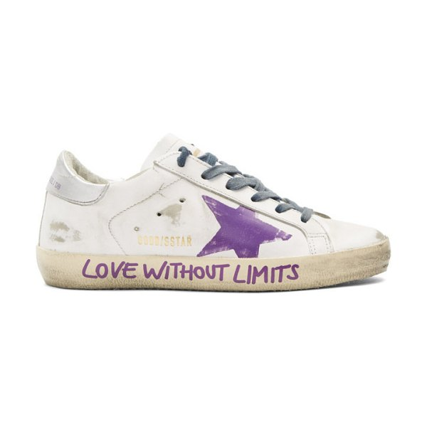 Golden Goose love without limits superstar sneakers in white