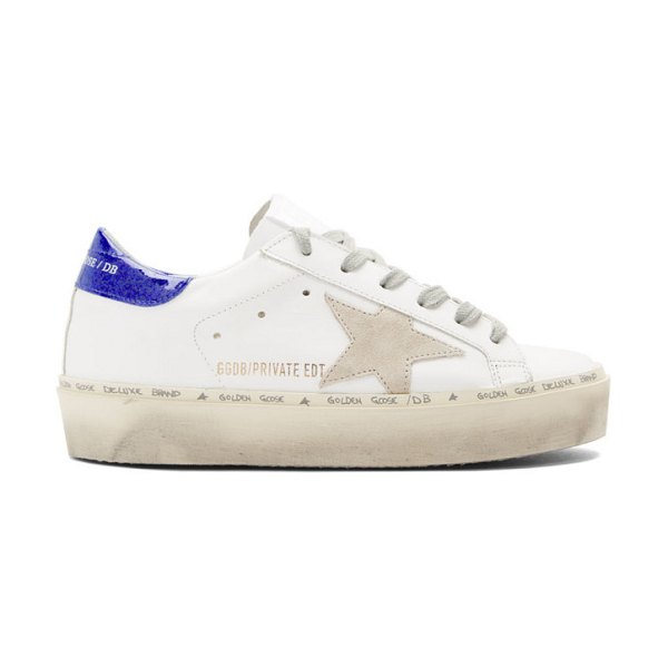 Golden Goose ssense exclusive  glitter tab hi star sneakers in white