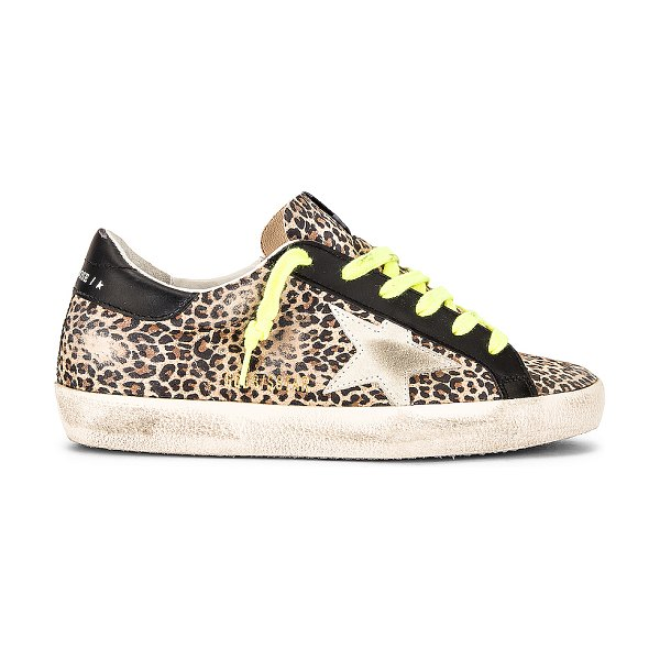 Golden Goose superstar sneaker in beige  brown  leopard  and ice