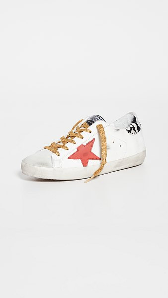Golden Goose superstar sneakers in ice/white/red/rock snake