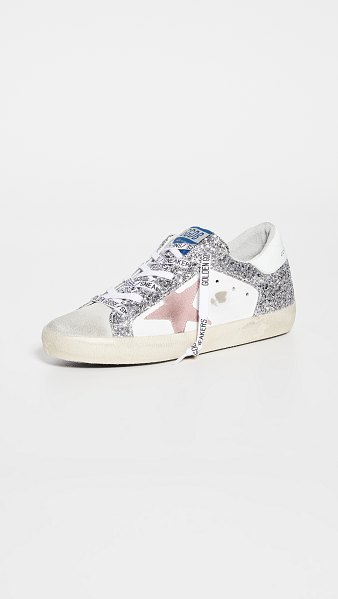 Golden Goose superstar sneakers in ice/white/silver/pink