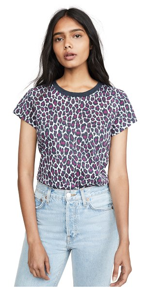 Goldie cheetah classic tee in orchid/iron