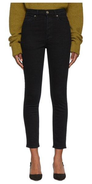 GOLDSIGN black the high rise slim jeans in slater