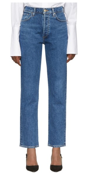 GOLDSIGN blue the benefit high rise jeans in moore