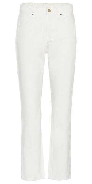 GOLDSIGN the benefit high-rise straight jeans in white