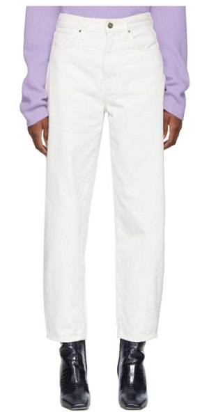 GOLDSIGN white the curved jeans in pearl
