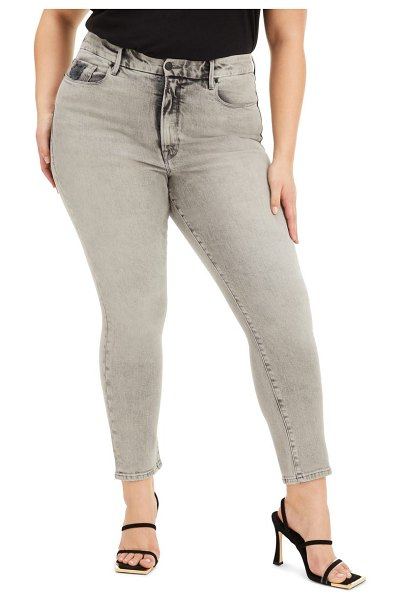 GOOD AMERICAN good classic ankle skinny jeans in black