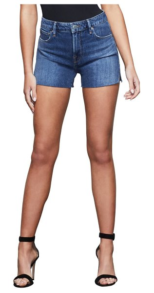 GOOD AMERICAN good curve high waist denim shorts in blue