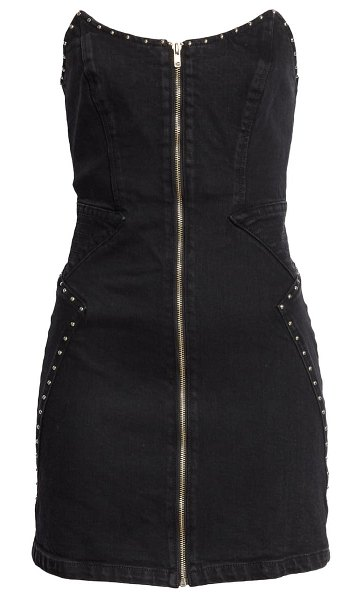 GRLFRND brooke strapless denim minidress in back in black