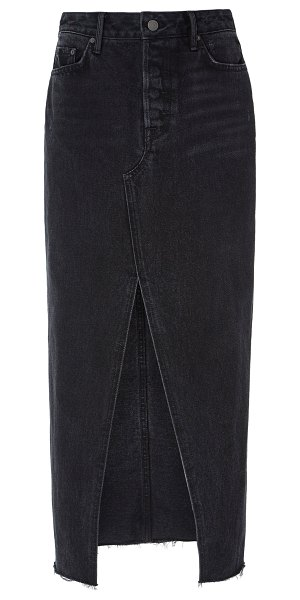GRLFRND Denim isla denim midi skirt in black