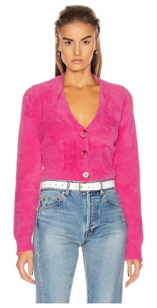 GRLFRND gracie cardigan in bright pink