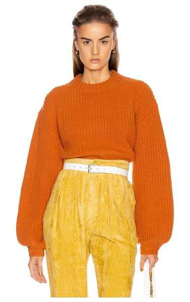GRLFRND joey crewneck sweater in orange