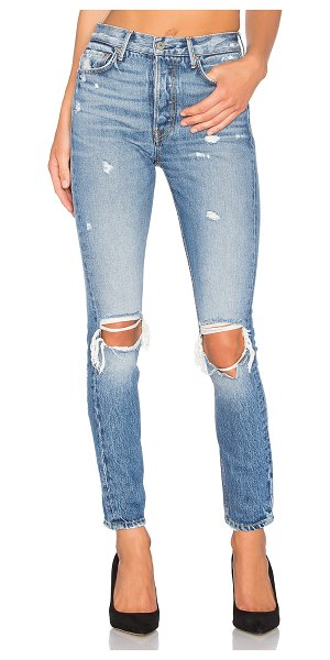 GRLFRND karolina high-rise skinny jean in i put a spell on you