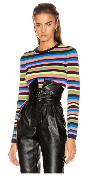 GRLFRND nash sweater tee in multi stripe