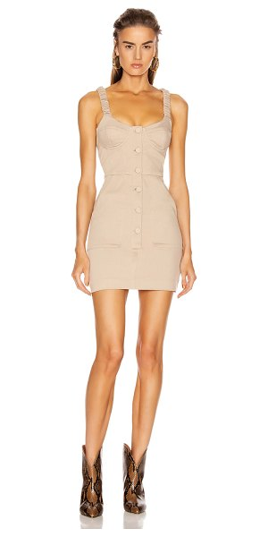 GRLFRND shae mini dress in khaki