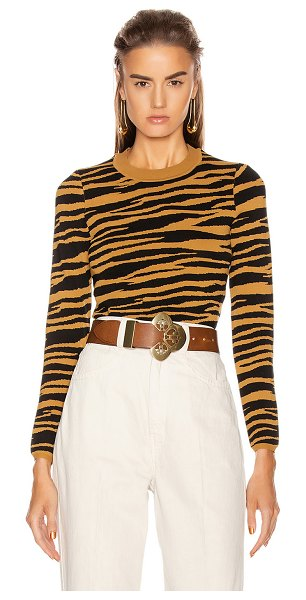 GRLFRND toni long sleeve sweater in black and gold