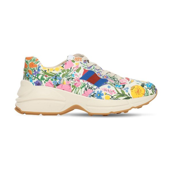 Gucci 50mm  rhyton print faux leather sneaker in multicolor