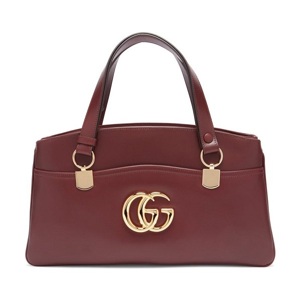 Gucci arli leather bag in burgundy - Gucci - Gucci's retro-inflected leather Arli bag was...