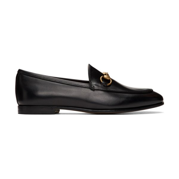 Gucci black jordaan loafers in 1000 nero