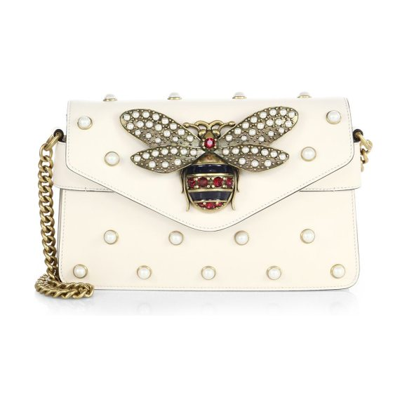 Gucci Broadway Leather Mini Bag in White  cdafea949aaca