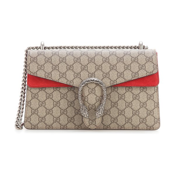 Gucci dionysus gg supreme small shoulder bag in red