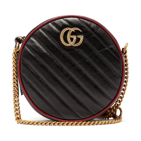 Gucci gg marmont quilted-leather cross-body bag in black multi